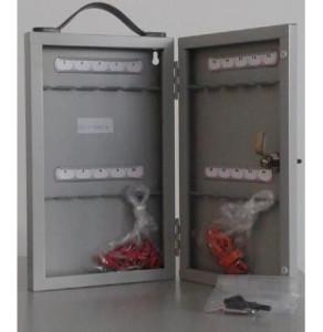 Бокс для ключей металлический серый KB-10-20V