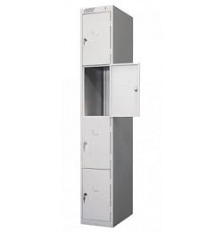 Локер металлический 4-секционный (шкаф для одежды)