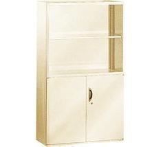 Шкаф архивный металлический с открытыми и закрытыми полками DO-9155 серый